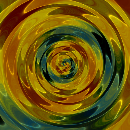 Abstract background of intertwining concentric circles resembling rippling liquid Stock Photo