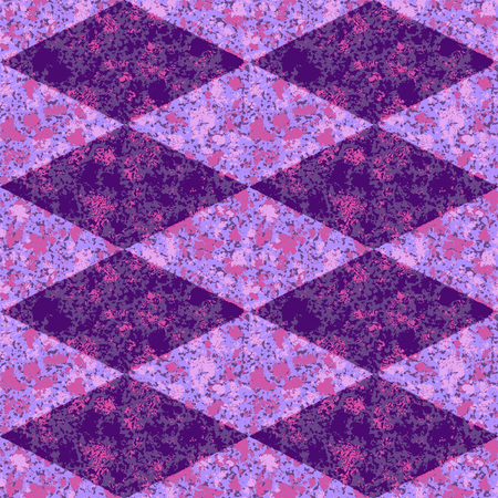 mottled: Abstract seamless purple diamond grunge mottled pattern