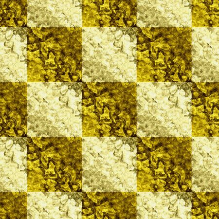 pave: Abstract seamless gold and yellow mosaic grunge pattern of squares