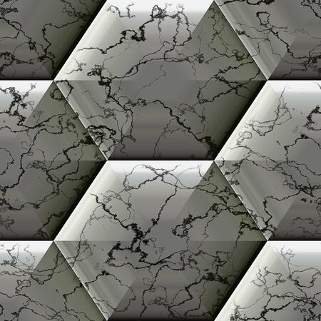 marbled: Abstract seamless hexagonal marbled pattern Stock Photo