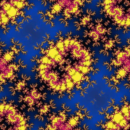 scalloped: Abstract seamless psychedelic fractal pattern Scalloped