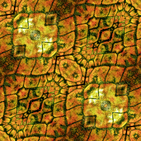 snake leather: Abstract seamless rough pattern with gold, orange and brown texture of snake scales Stock Photo