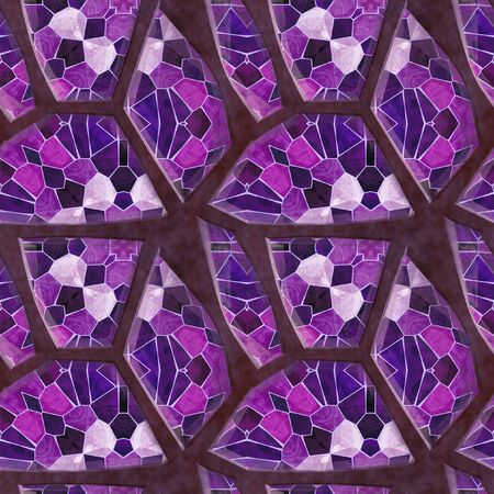 road paving: Seamless pavement floor pattern with pink, purple and white abstract mosaic Stock Photo