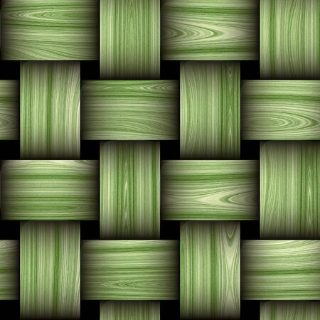 resembling: Seamless wooden green and white pattern resembling a wicker basket texture