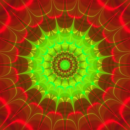 converging: Abstract psychedelic concentric rotating star shapes converging to one point