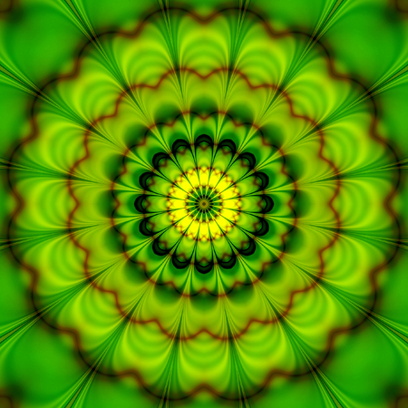 rotating: Abstract background of stylized rotating concentric flower creating an illusion of movement