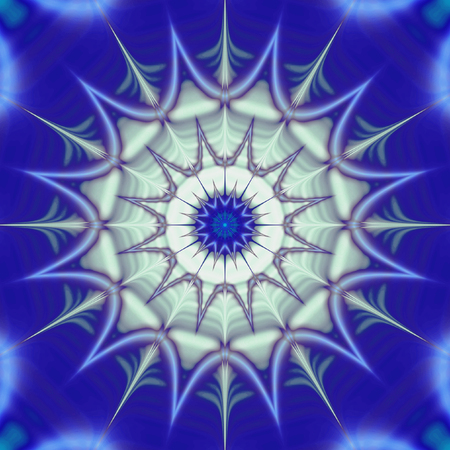 vibrating: Abstract blue and white background resembling stylized snowflake structure