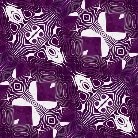 intertwined: Abstract seamless white and purple wavy pattern with intertwined shapes. Retro background with oval shapes