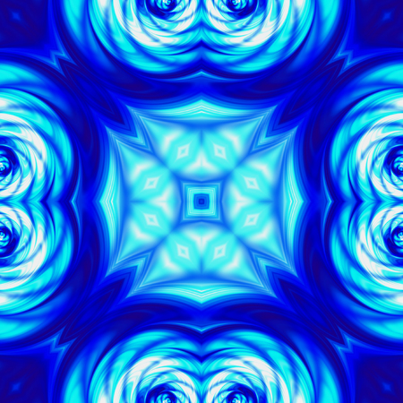 vibrating: Kaleidoscopic Abstract blue pattern with wavy structure and blurred lines. Blue abstract Kaleidoscopic pattern with rippling psychedelic structure