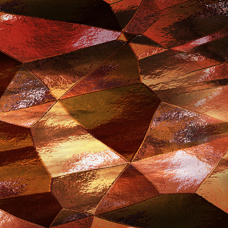 wallpaper copper gold golden: Abstract polygonal background of scratched metal foil. Copper plate with brushed texture