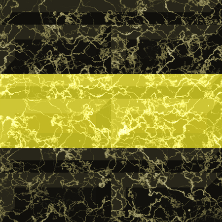 pavement: Abstract seamless gold and black marbled pattern with veins. Pavement floor pattern with gold and black rectangles