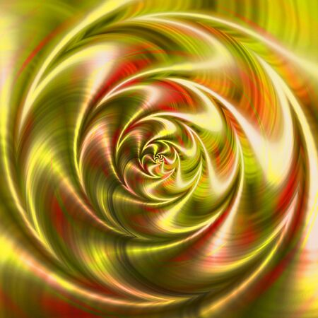 rippling: Abstract rotating background of rippling concentric pattern creating an illusion of movement. Green, red, orange and gold background of swirling circular shapes