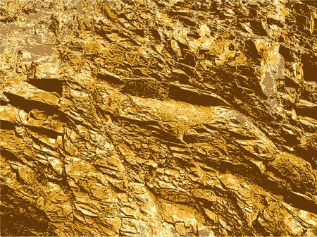 ひび割れを有する自然の岩のテクスチャです。ひびの入った岩盤構造物の茶色とオレンジの背景