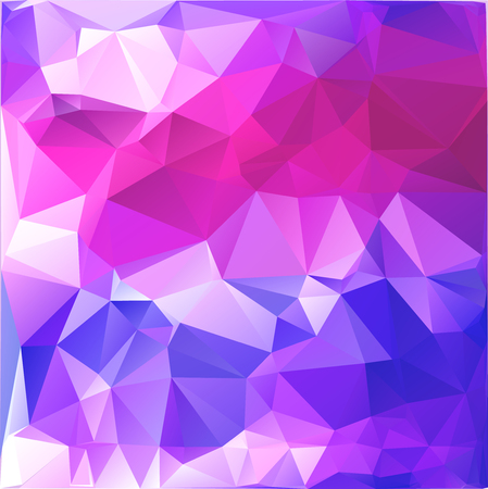 Abstract polygonal background resembling sky with dawn. Blue, purple, white and pink background of polygons Иллюстрация
