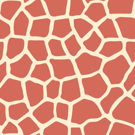 Giraffe skin seamless pattern. Safari Collection. Animal skin. Africa abstract pattern for design.