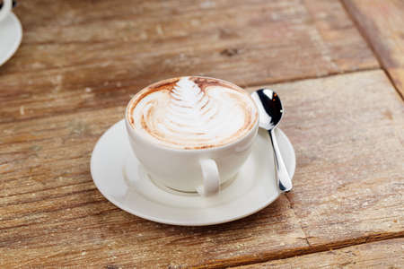 A cup of latte coffee