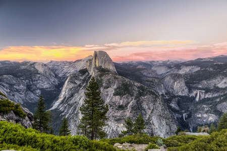 Half Dome Sunset in Yosemite National Park,