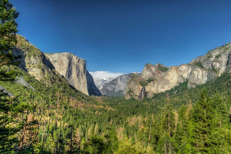 Yosemite National Park Valley from Tunnel View 版權商用圖片