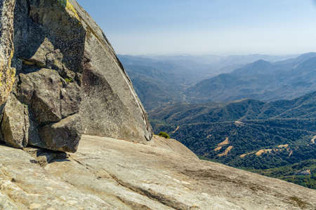 Views from Moro Rock in Sequoia and Kings Canyon National Park, California.