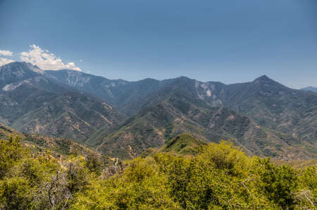 Mountain landscape at Sequoia National Park
