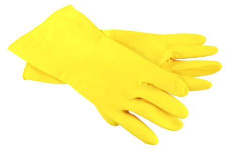 cleanness:  economic gloves on white background
