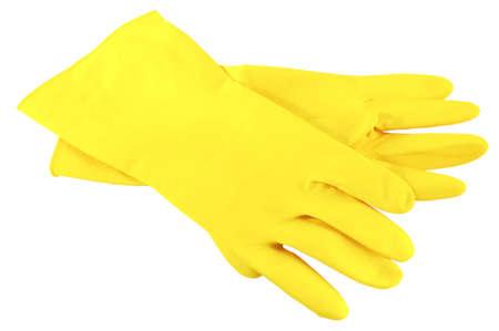 Wirtschafts-Handschuhe auf weißem Hintergrund  Standard-Bild - 2629239