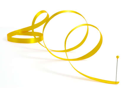 gold ribbon curls