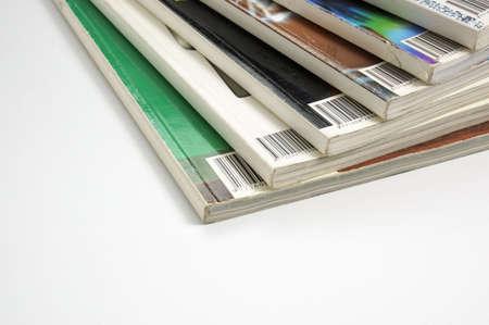 colorful glossy magazines Standard-Bild