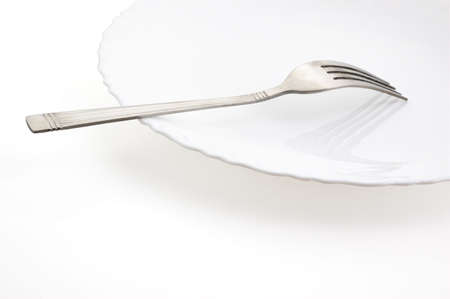 fork and plate on a white background (file contains clipping path) Stock Photo - 2706019