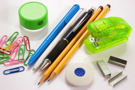 school office supplies Stock Photo