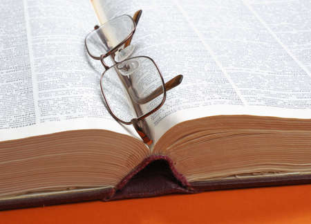 dictionary and glasses  Stock Photo - 2800193