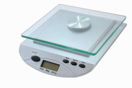 digital kitchen scale isolated on white background Standard-Bild