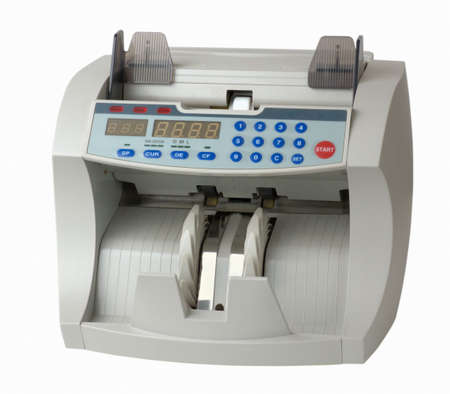 Currency Counter on white background photo