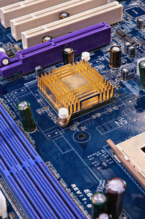 Electronic components on a printed circuit board Stock Photo - 9374150