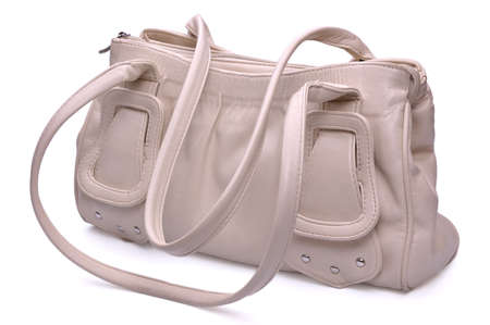 Female handbag on a white background Standard-Bild