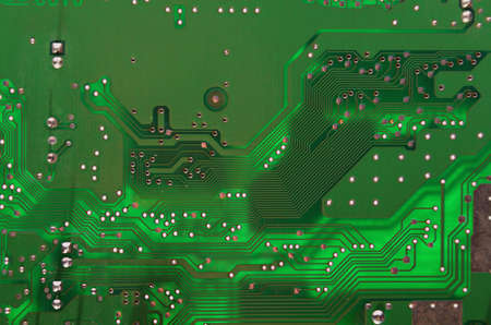 Green Circuit card used as a background