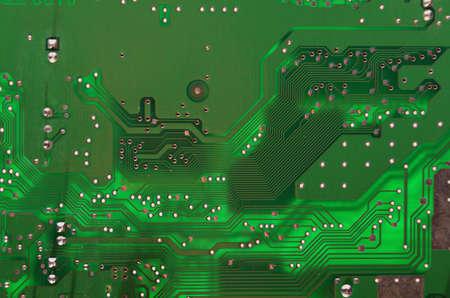 Grüne circuit card als Hintergrund verwendet Standard-Bild - 10861764