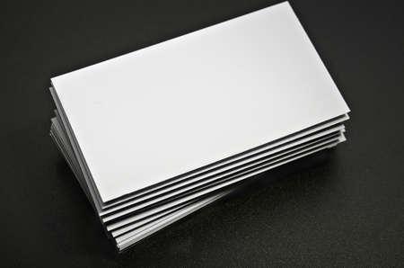 blank business card against a dark background