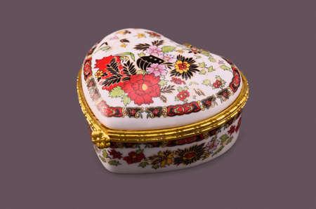multicolor jewelry box on a dark gray background Stock Photo - 17725200