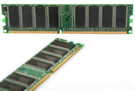 dimm: computer memory isolated on white background