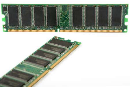 gigabytes: computer memory isolated on white background