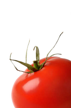 red tomato isolated on white background photo
