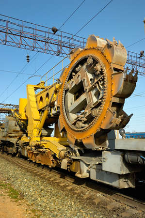 conveyor rail: rotor excavator   specialized railway equipment   for the construction of railways