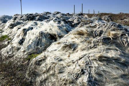 glass fiber: The landfill of industrial waste  glass fiber  Stock Photo