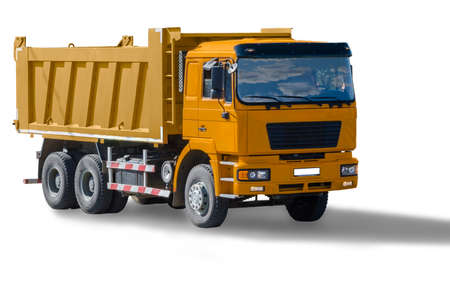 dump truck: car dumper isolated on white background