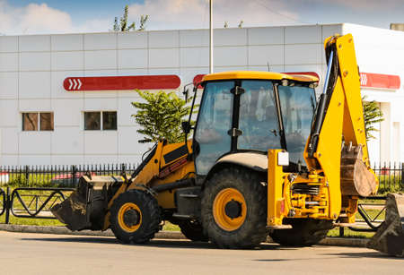 Wheel loader Excavator with backhoe