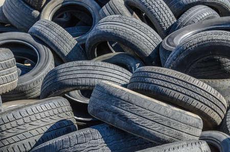 dump the old car tires