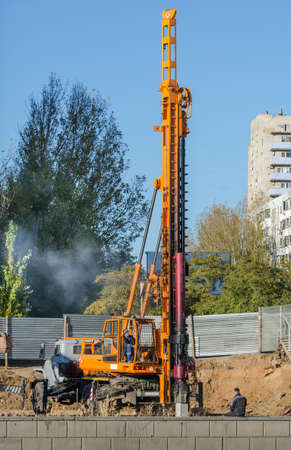 piling: A powerful Piling works  vehicle on Construction site