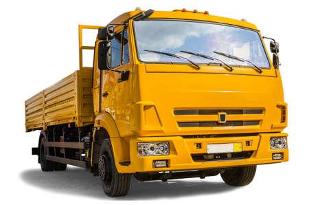 dump truck:   Dump truck on white background Stock Photo