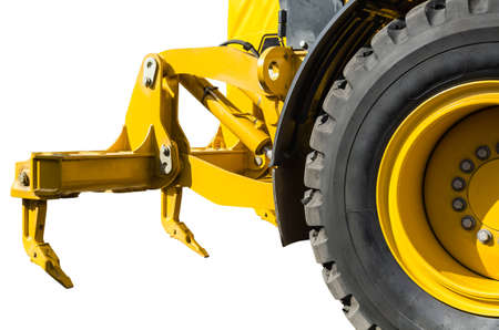 Subsoiler-attachments tractor isolated on white background Stock Photo